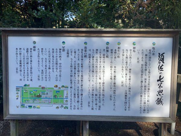 須佐神社境内右手横看板